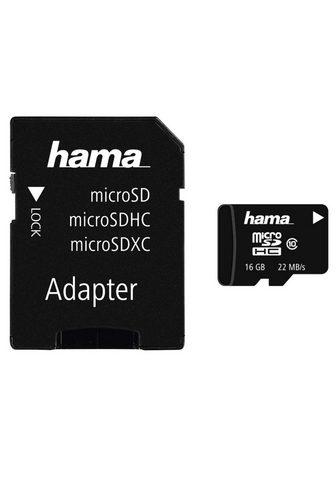 HAMA Atminties kortelė microSDHC 16GB Class...