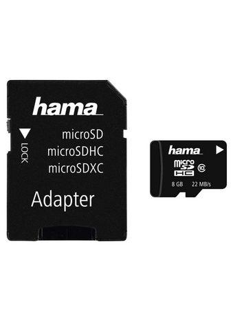 HAMA Atminties kortelė microSDHC 8GB Class ...