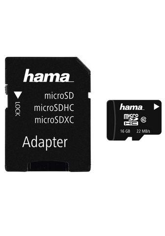 HAMA MicroSDHC 16 GB Class 10 22 MB/s + Ada...