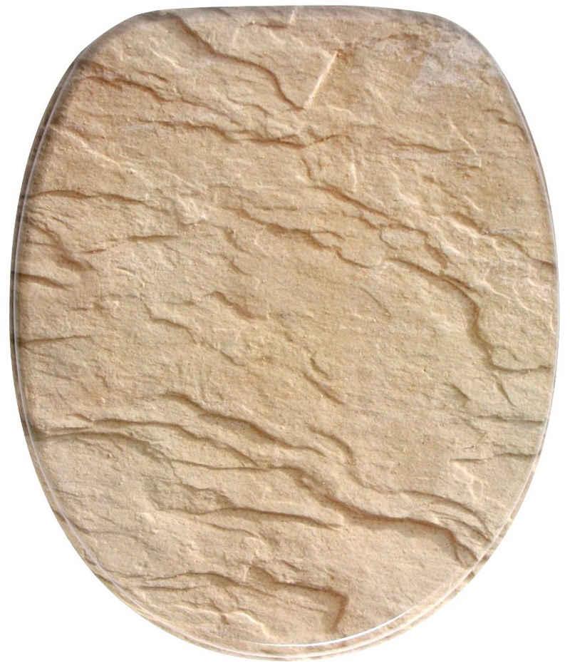 Sanilo WC-Sitz »Sand Stone«, mit Absenkautomatik