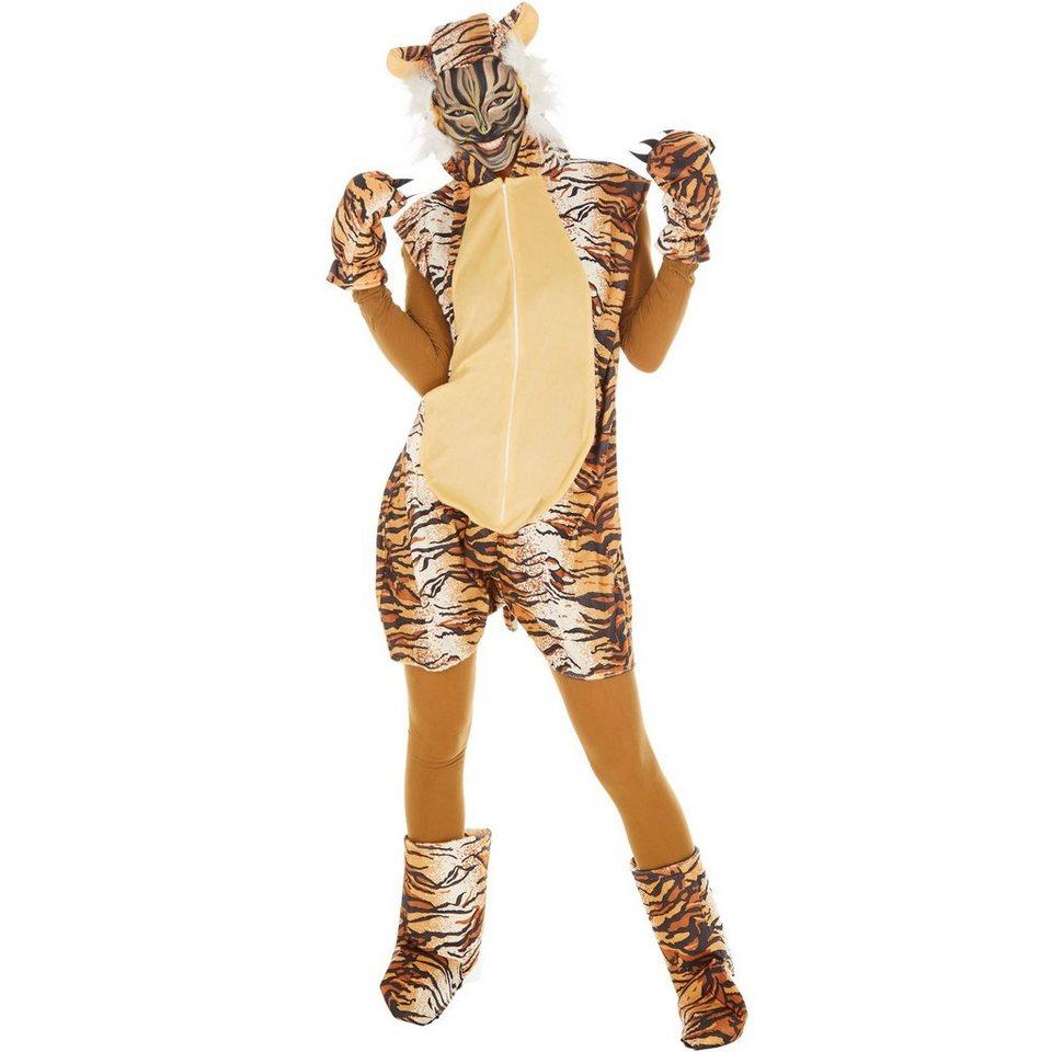 tectake Kostüm »Kostüm Tiger«, Cooles Tigerkostüm für