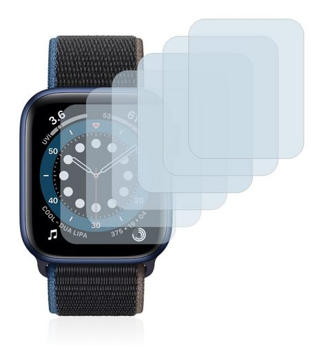 Savvies Schutzfolie »für Apple Watch Series 6 (40 mm)«, (6 Stück), Folie Schutzfolie klar