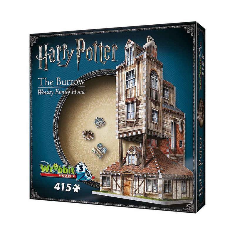 Wrebbit 3D-Puzzle »Wrebbit 3D Puzzle 415 Teile Harry Potter Fuchsbau«, Puzzleteile