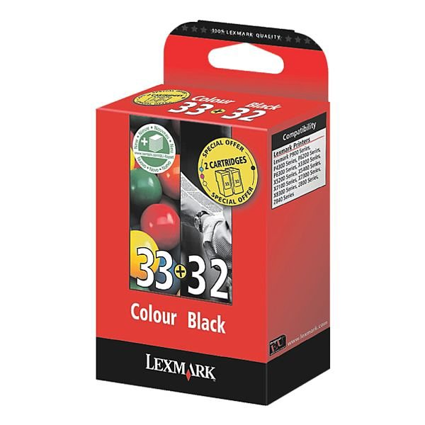 Lexmark Tintenpatronen-Set »18CX032 & 18CX033« Nr. 32 ...