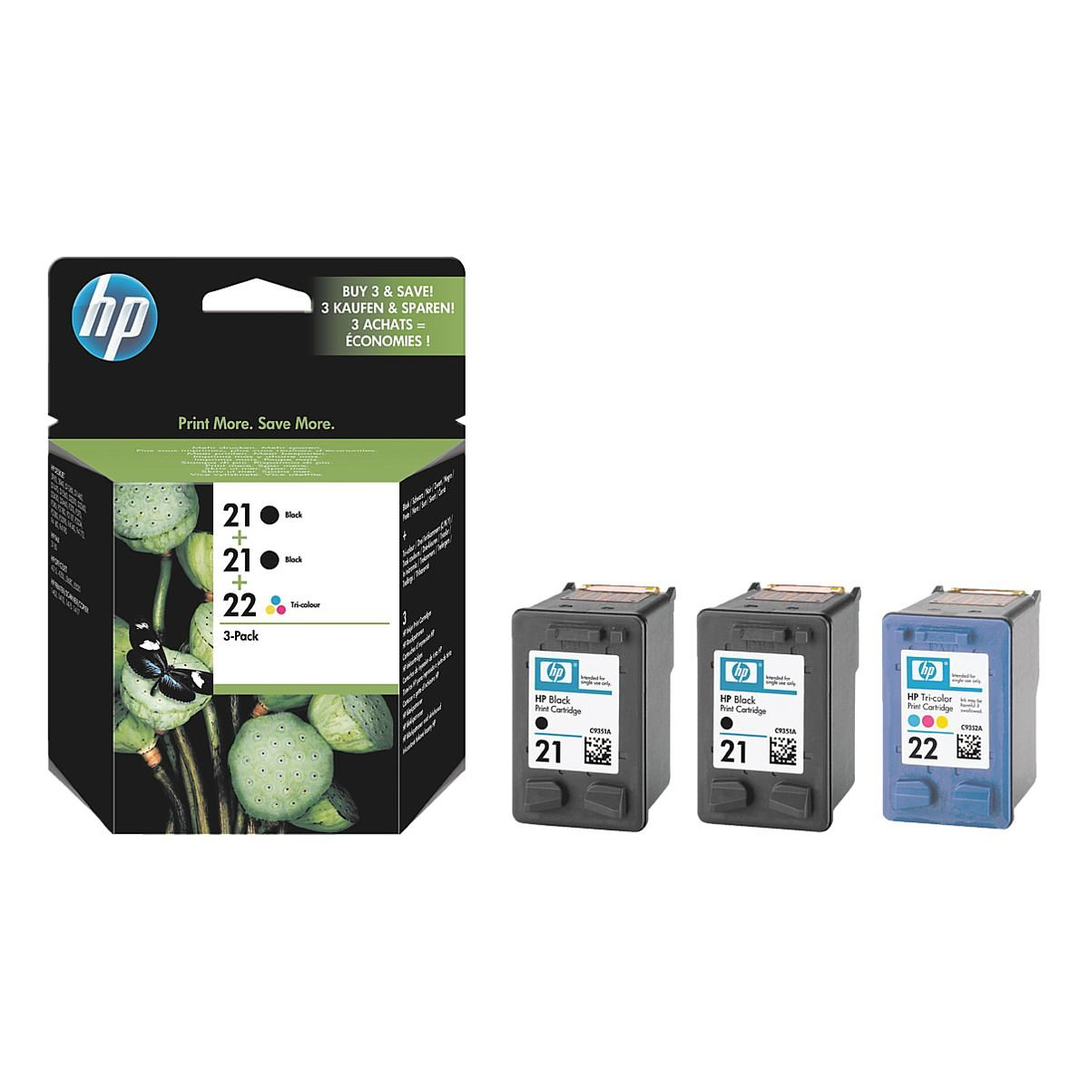 HP Tintenpatronen-Set »HP SD400AE« HP 21 & 22