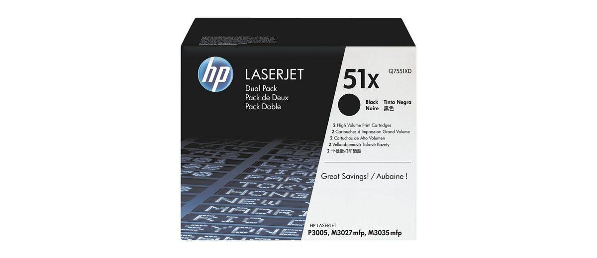 HP Doppelpack Druckkassetten »HP Q7551XD« 51X