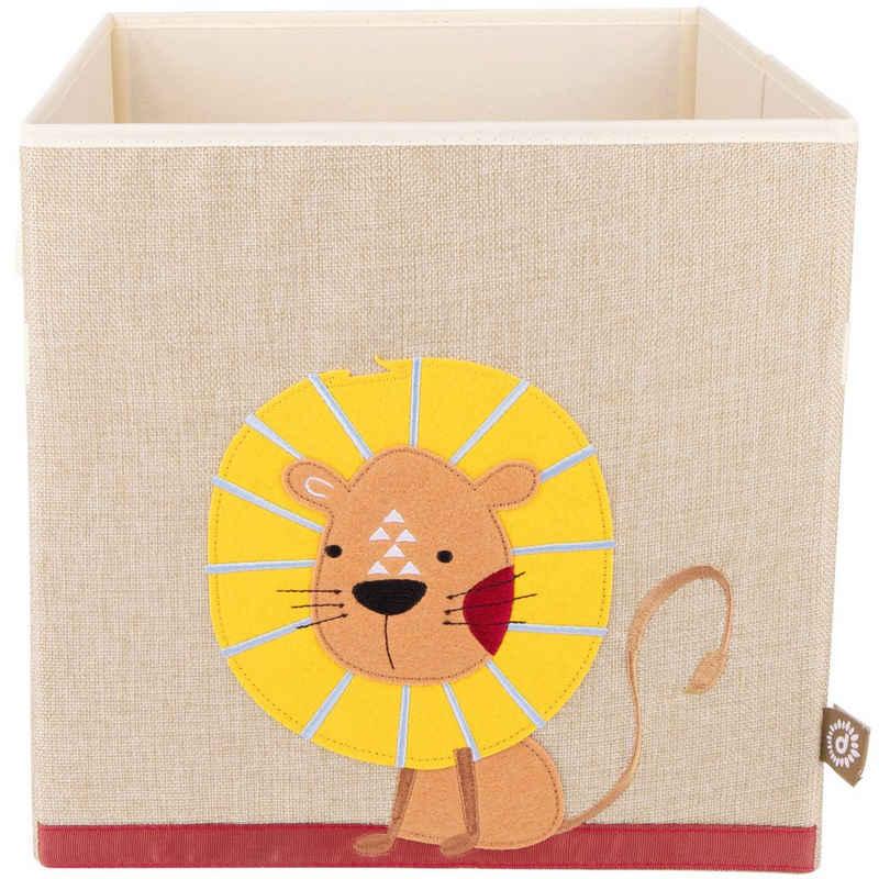 BIECO Spielzeugtruhe »Bieco Aufbewahrungsbox Kinder Löwen Motiv ca. 36L faltbar Süße Spielzeug Kiste für Kallax Regal Aufbewahrungsbox 33x33x33 Kallax Boxen für Spielzeug Aufbewahrung Storage Box Kallax«