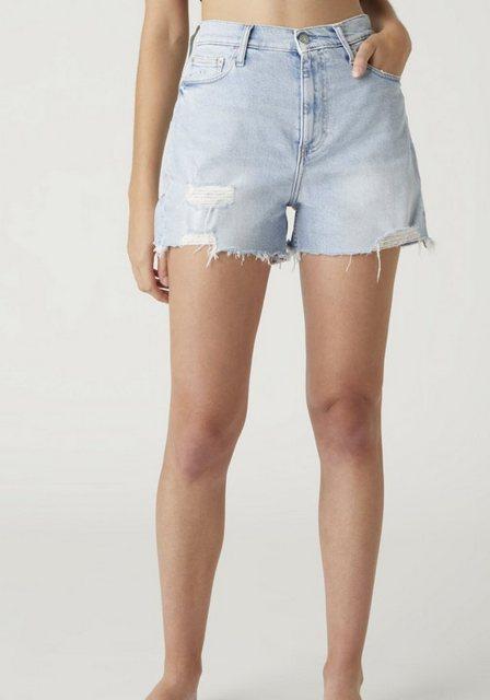 Hosen - Calvin Klein Jeans Shorts »Mom short« mit leicht ausgefranstem Saum Destroyed Effekten ›  - Onlineshop OTTO