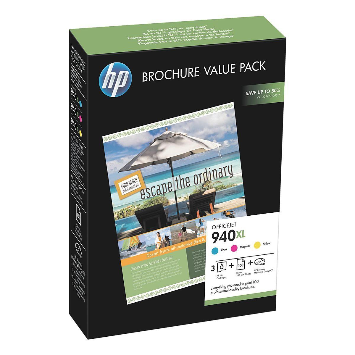 HP Tintenpatronen-Set »HP CG898AE« HP 940XL mit Papier