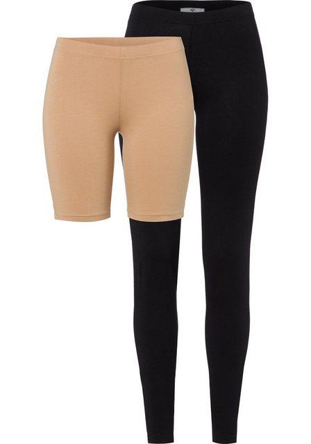Hosen - AJC Jerseyhose (2 tlg) im Set Radlerhose und Legging NEUE KOLLEKTION › schwarz  - Onlineshop OTTO