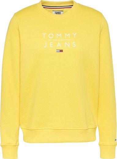 TOMMY JEANS Sweatshirt »TJW ESSENTIAL LOGO SWEATSHIRT« mit Tommy Jeans Logo-Schriftzug & Flag