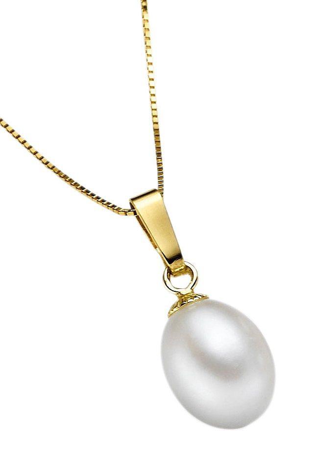 Anhänger mit Perle in goldfarben