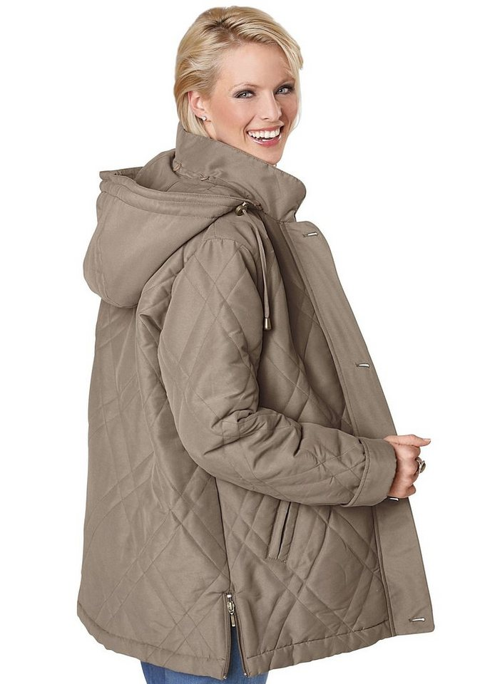 Classic Basics Jacke in Microfaser-Qualität in taupe