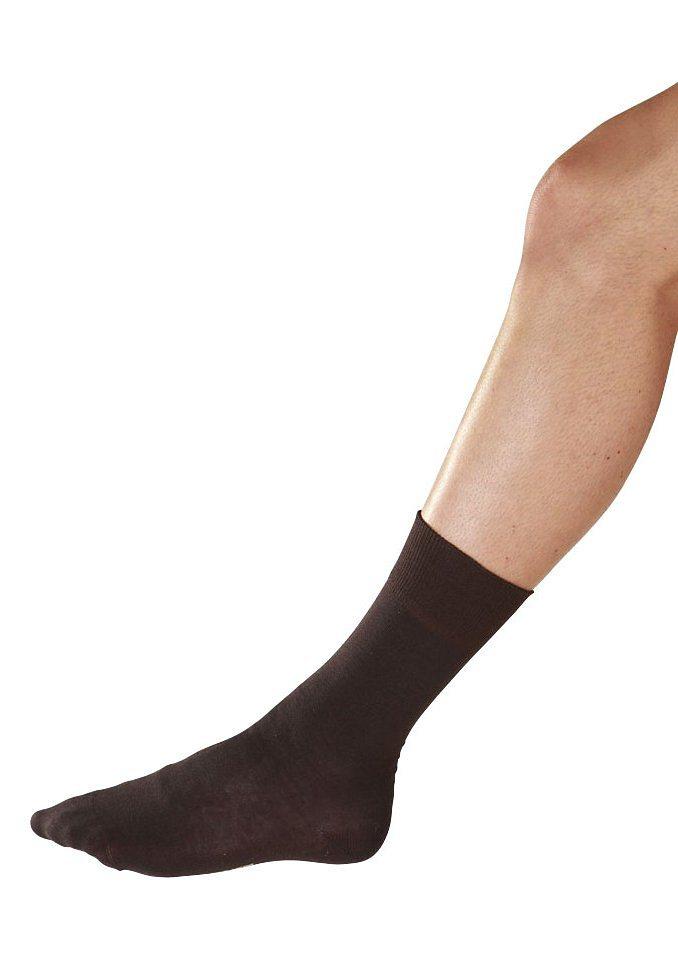 Diabetikersocken, LINDNER socks in braun