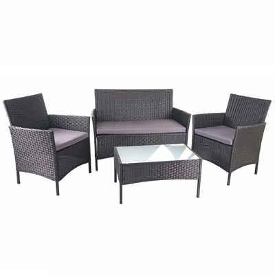 MCW Sitzgruppe »MCW-D82«, Garten, 4 Sitzplätze, Wasserabweisende Bezüge, Waschbare Kissenbezüge mit Reißverschluss