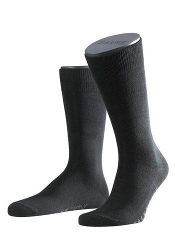 Herren Falke Socken Family (2 Paar) mit extrahohem Baumwollanteil schwarz | 04004758508890