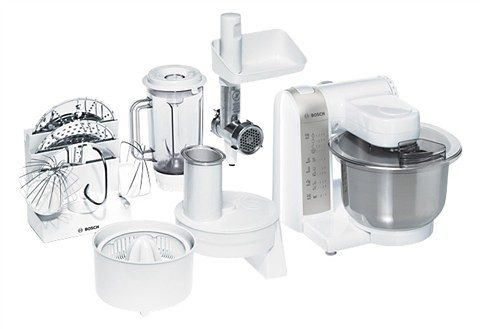 Bosch Küchenmaschine »MUM4880« mit 3,9-Liter-Edelstahl-Rührschüssel und viel Zubehör, 600 Watt