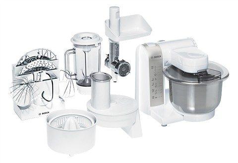 BOSCH Küchenmaschine MUM4880, 600 W, mit 3,9-Liter-Edelstahl-Rührschüssel und viel Zubehör