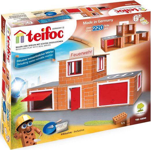 teifoc Konstruktions-Spielset »Feuerwehr«, (220 St), Made in Germany