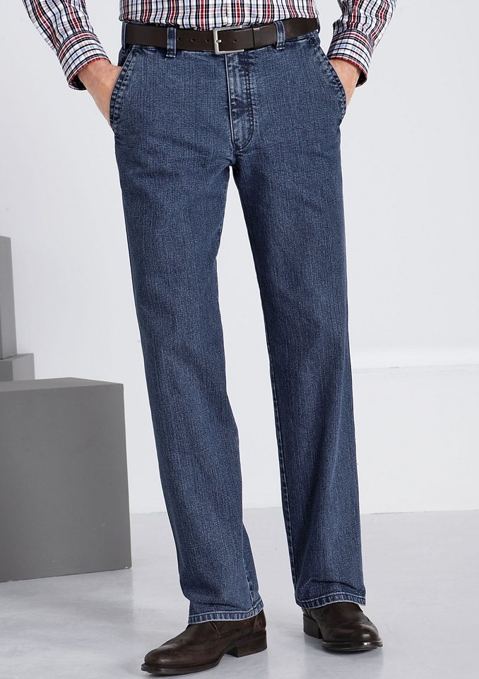 Brühl Traveller-Jeans in Stretch-Qualität in blue-stone-washed