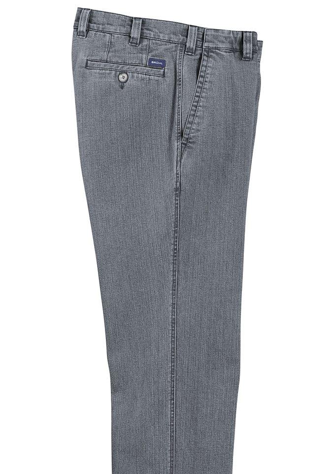Brühl Traveller-Jeans in Stretch-Qualität in grau-denim