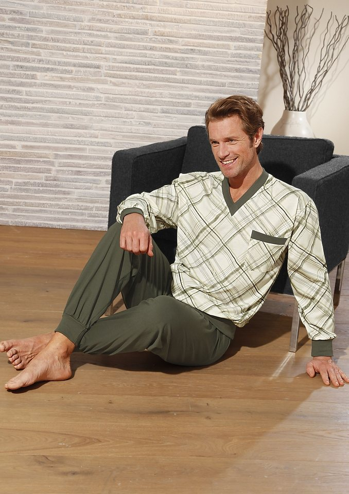 Schlafanzug, Götting in khaki-natur