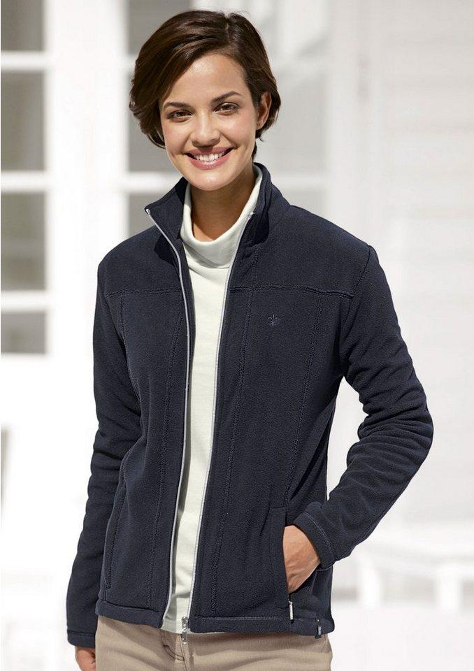 Hajo Fleece-Jacke aus bewährtem Micro-Klima-Fleece in schwarz