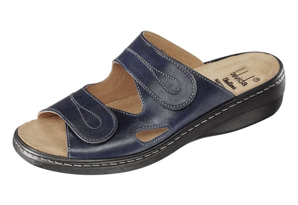Pantolette mit gelenkschonendem Fußbett in blau