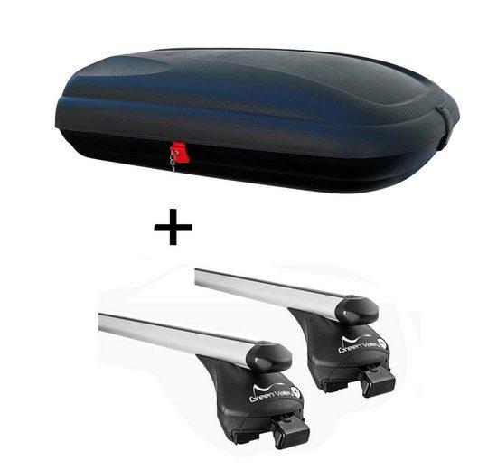 VDP Fahrradträger, Dachbox VDP CA320 Relingträger Quick Alu kompatibel mit Seat Altea XL ab 06 aufliegende Reling