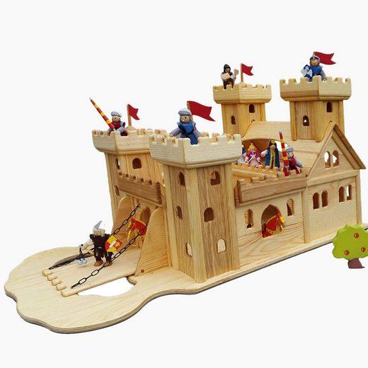 Madera Spielzeuge Spielwelt »Ritterburg aus Kiefern Holz«, (Fertig Montiert), Made in Germany