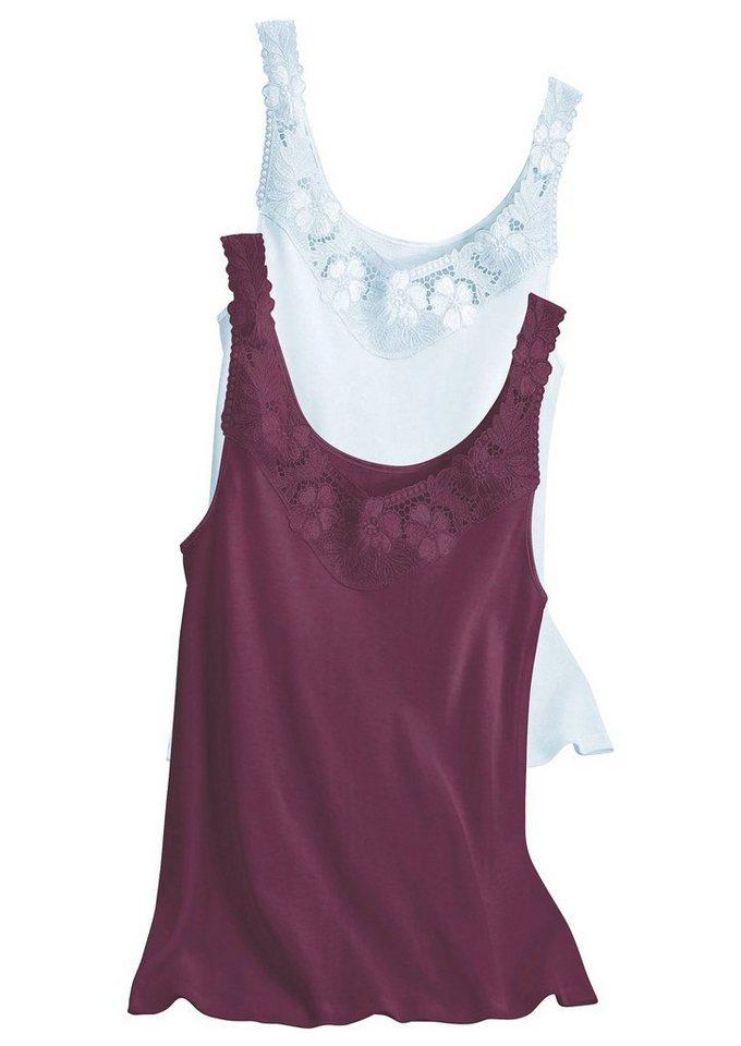 Hemd, Rosalie (2 Stck.) in weiß+brombeer