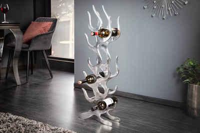 riess-ambiente Weinregal »FLAME 95cm silber«, 1-tlg., Metall · Flaschenregal · Modern Design · für 9 Flaschen