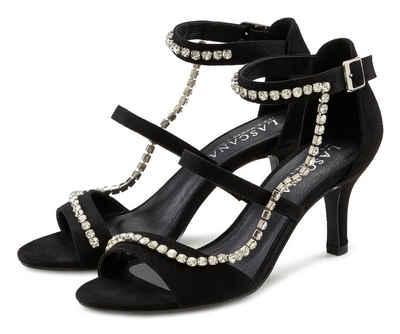 LASCANA Sandalette mit aufwendiger Schmuckkette und bequemer Absatzhöhe