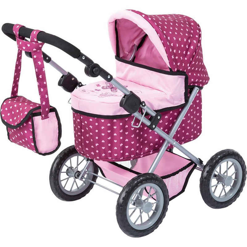 Bayer Puppenwagen »Puppenwagen Trendy rosa gepunktet«