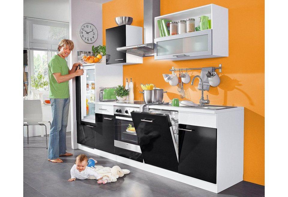 k chenzeile 220 cm mit elektroger ten haus design ideen. Black Bedroom Furniture Sets. Home Design Ideas