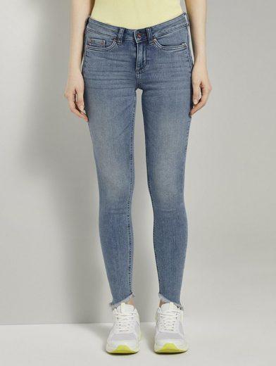 TOM TAILOR Denim Skinny-fit-Jeans »Jona Extra-Skinny Jeans mit Fransen«