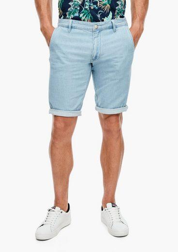 s.Oliver Shorts »Regular Fit: Bermuda aus Baumwollmix« (1-tlg) Waschung