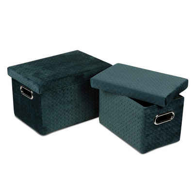 formano Aufbewahrungsbox »Samt Boxen Set, 2tlg. grün« (2 Stück), Samt Boxen