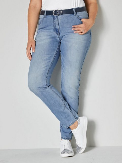 Hosen - Angel of Style by Happy Size Jeans Carla Slim Fit › blau  - Onlineshop OTTO