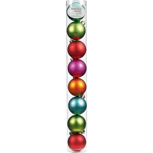 CHRISTMAS GOODS by Inge Weihnachtsbaumkugel »8er-Set Weihnachtskugeln aus Kunststoff, Ø6 cm,«