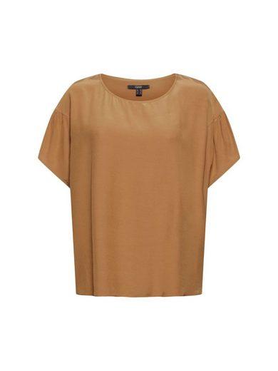 Esprit Collection Kurzarmbluse »Kurzarm-Bluse mit LENZING™ ECOVERO™«