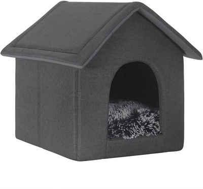 EUGAD Tierhaus »0015GD-DPT«, Hundehaus Hundehöhle Katzenhaus Katzenhöhle für Französische Bulldogge Jack Russell Terrier Welpen Grau