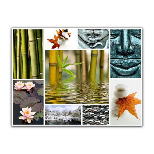 Bilderdepot24 Leinwandbild »Buddha Collage«, Religion