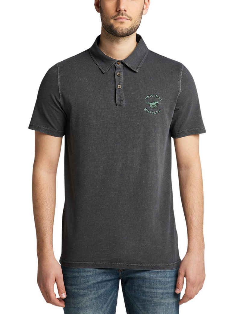 MUSTANG Poloshirt »Pablo PC Polo« meliertes Muster