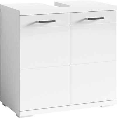 byLIVING Waschbeckenunterschrank »Nebraska« Breite 60 cm, mit Hochglanzlackierung und verchromten Metallgriffen