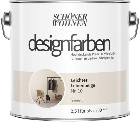 SCHÖNER WOHNEN FARBE Farbe »Designfarben«, Leichtes Leinenbeige Nr. 10, feinmatt 2,5 l