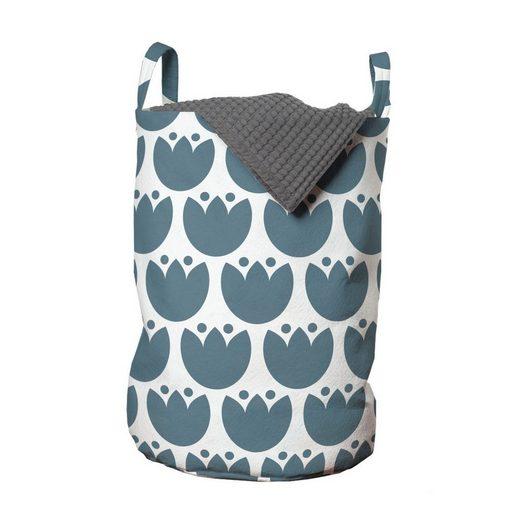 Abakuhaus Wäschesack »Wäschekorb mit Griffen Kordelzugverschluss für Waschsalons«, Volkskunst Eco Hygge Blumen-Muster