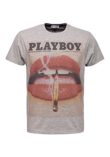 PLAYBOY T-Shirt mit angesagtem Front-Print