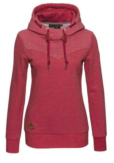Ragwear Sweater »NUGGIE« mit Mini Dots und Zig Zag Allover Druck