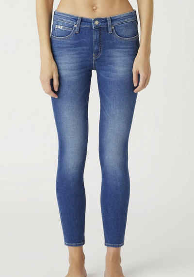 Calvin Klein Jeans Skinny-fit-Jeans »MID RISE SKINNY ANKLE« mit Calvin Klein Jeans Logo-Badge & Schriftzug